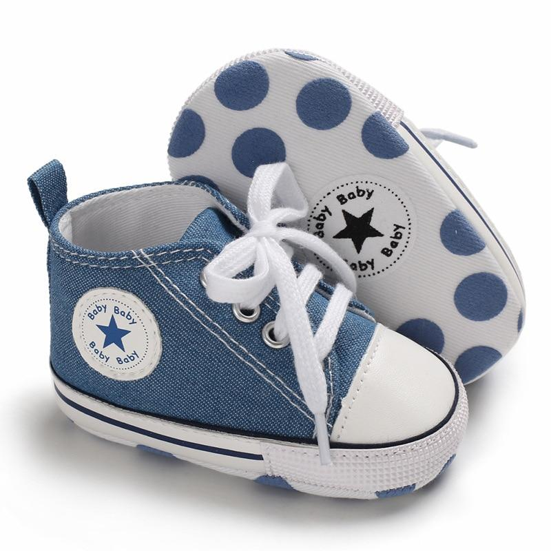 Baby Converse - infant Converse - Newborn Baby Walker Trainers - Jeans Blue / 0-6 Months - First Walkers