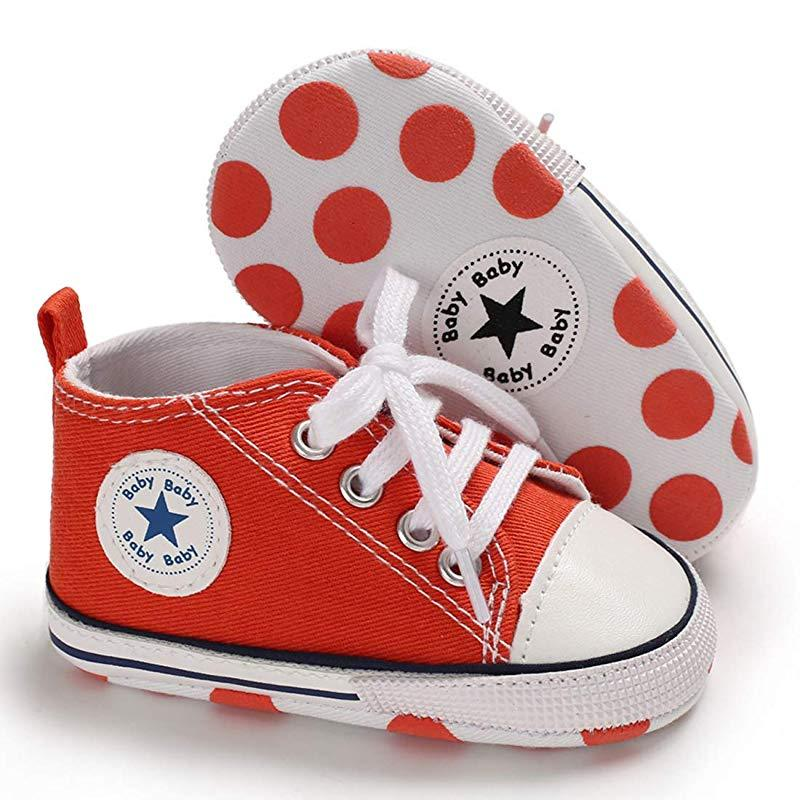 Baby Converse - infant Converse - Newborn Baby Walker Trainers - Orange / 0-6 Months - First Walkers