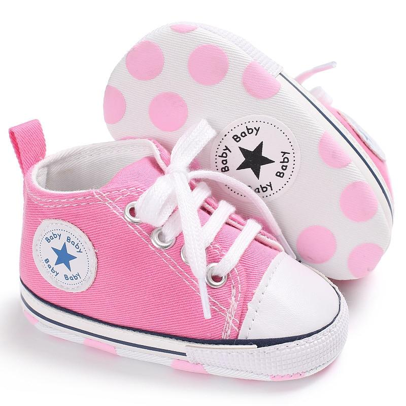Baby Converse - infant Converse - Newborn Baby Walker Trainers - Pink / 0-6 Months - First Walkers