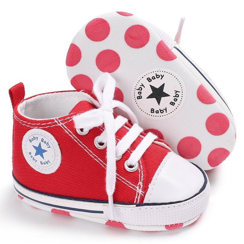 Baby Converse - infant Converse - Newborn Baby Walker Trainers - Red / 0-6 Months - First Walkers