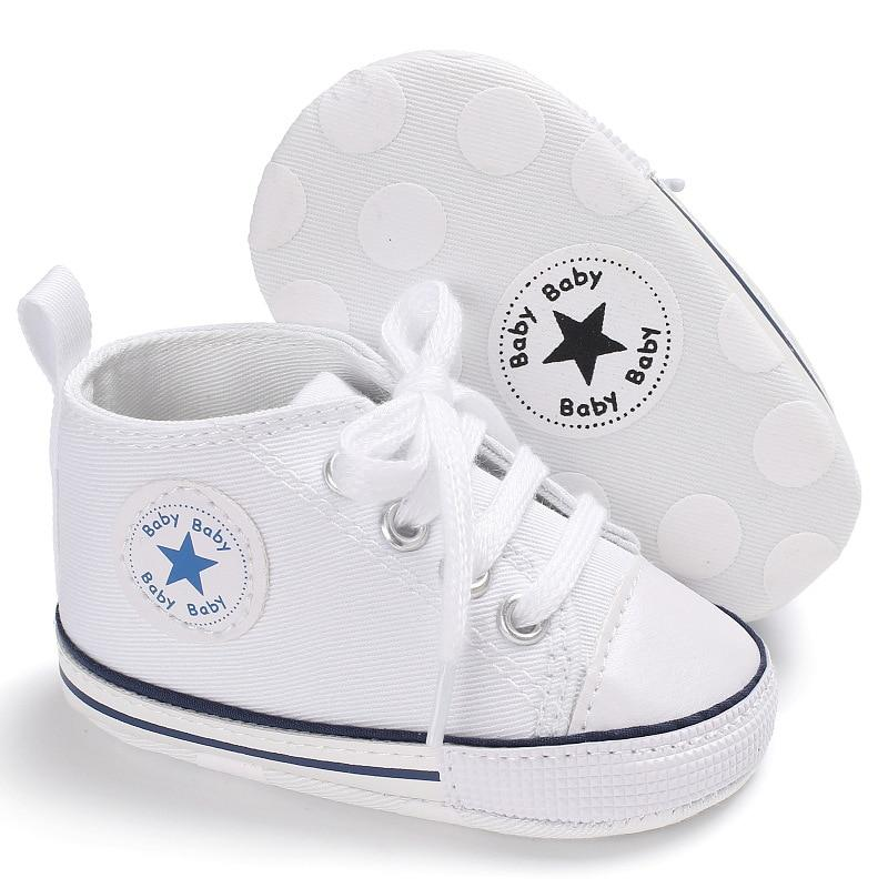 Baby Converse - infant Converse - Newborn Baby Walker Trainers - White / 0-6 Months - First Walkers