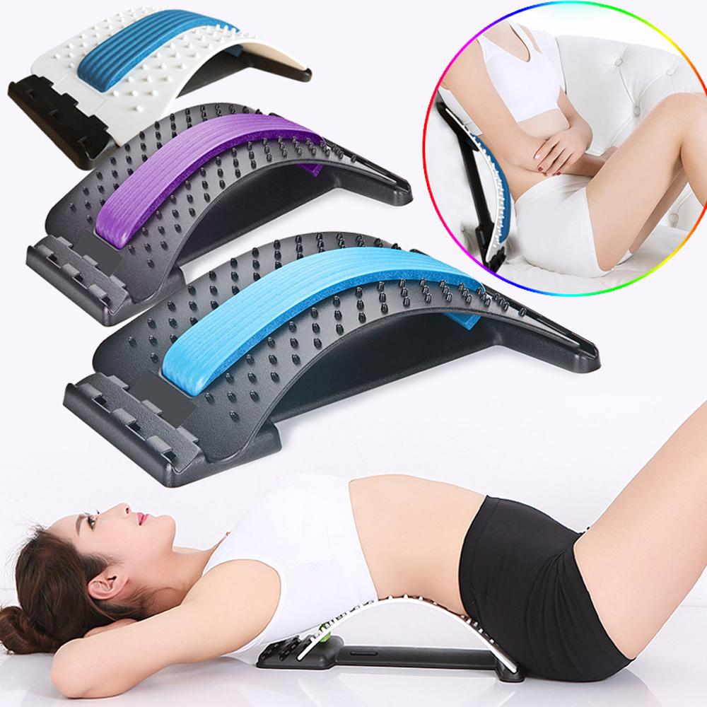 Back Stretching Device For Lumbar Support Spinal Decompression Pain Relief