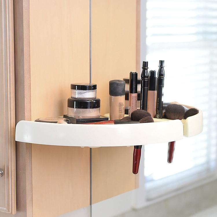 Bathroom Corner Shelf Rack - Kitchen Corner Shelf Storage Wall Holder