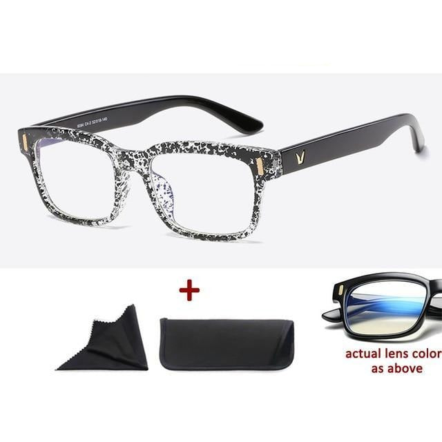 Blue Light Filter Gaming Glasses Anti Blue Ray UV 400 Computer Glasses - Black Ink Dot