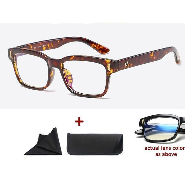 Blue Light Filter Gaming Glasses Anti Blue Ray UV 400 Computer Glasses - Shiny Amber