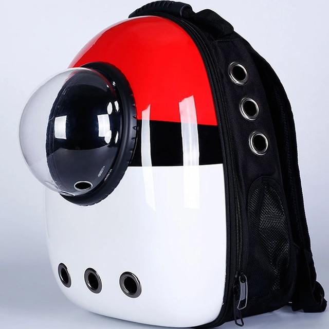 Bubble Pet Travel Backpack - Breathable Capsule Astronaut Dog Cat Carrier - Pokeball
