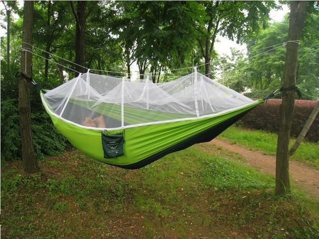 Camping Hammock Tent With Mosquito Net Portable Hanging Bed - Dark Green22