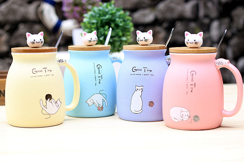 Creative Ceramic Heat-Resistant Cat/kitten Coffee Mug