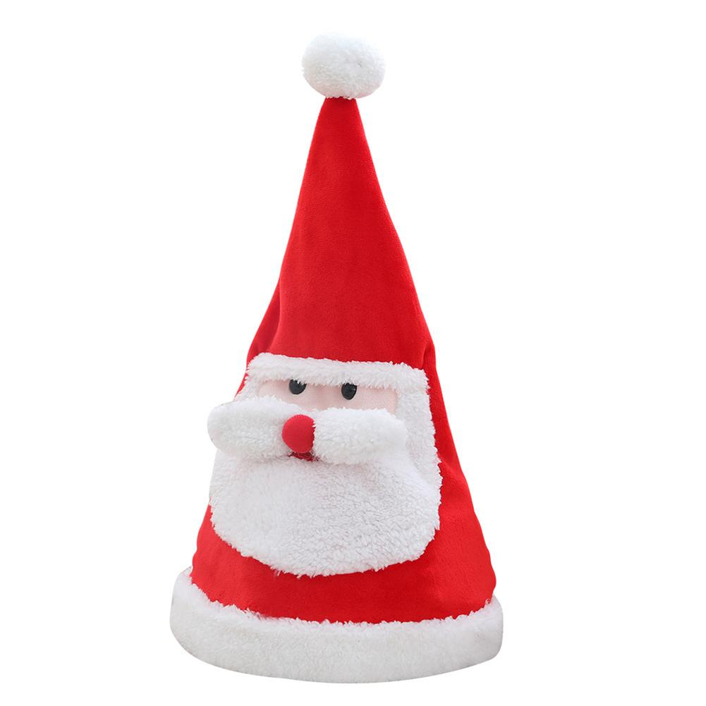 Christmas Santa Hat - Singing Dancing & Lighting Santa Claus Hat - Xmas Party Gift