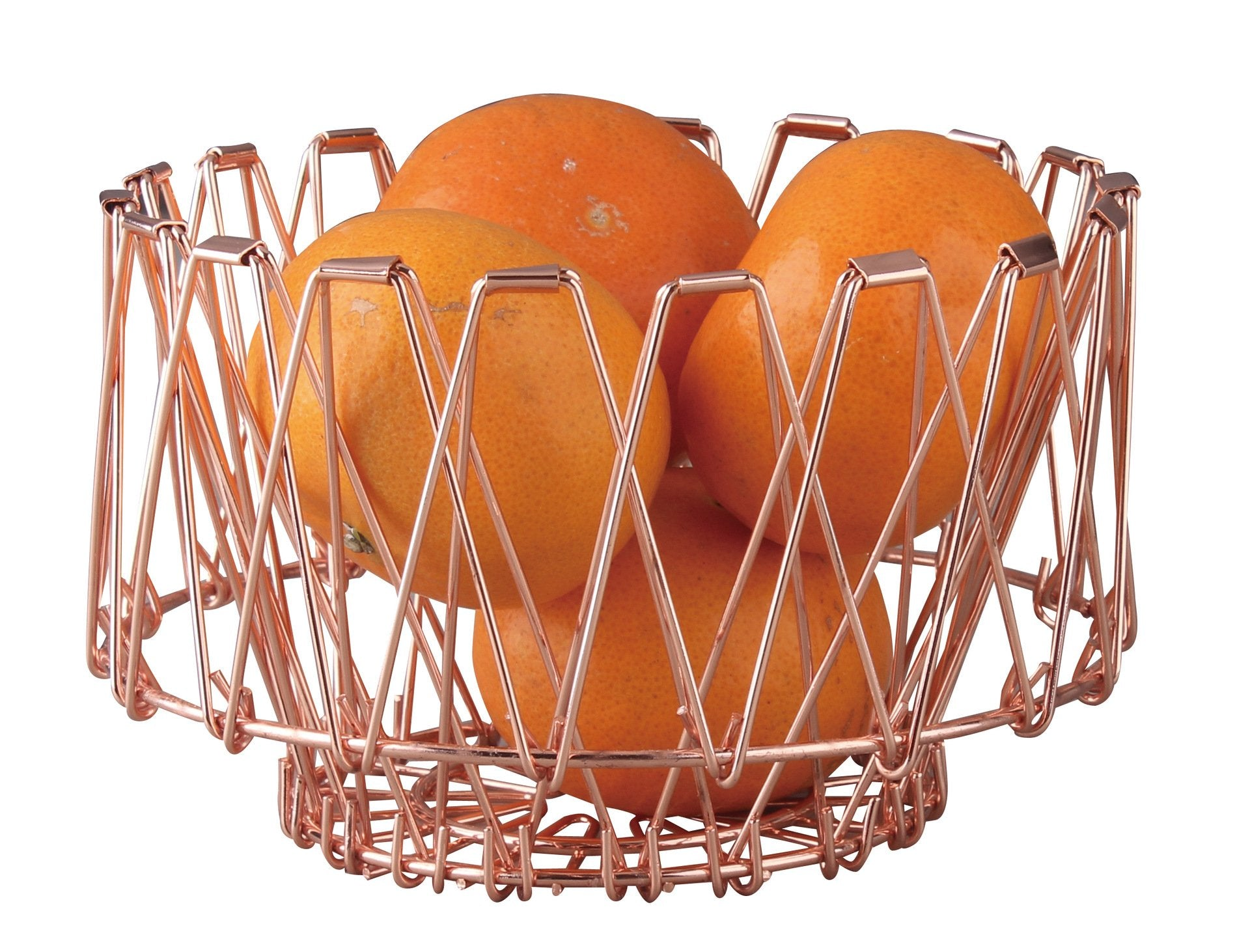 Collapsible Stainless Steel Fruit Basket - Foldable Metal fruit Bowl - Storage Baskets