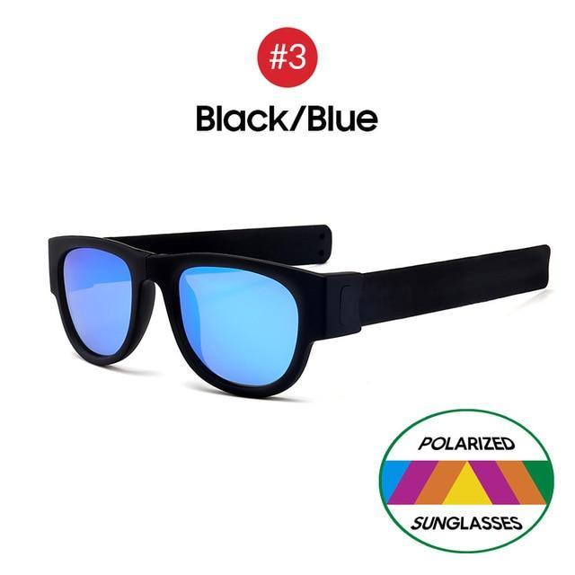 Collapsible Sunglasses - Black Blue