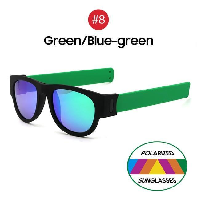 Collapsible Sunglasses - Green Blue Green