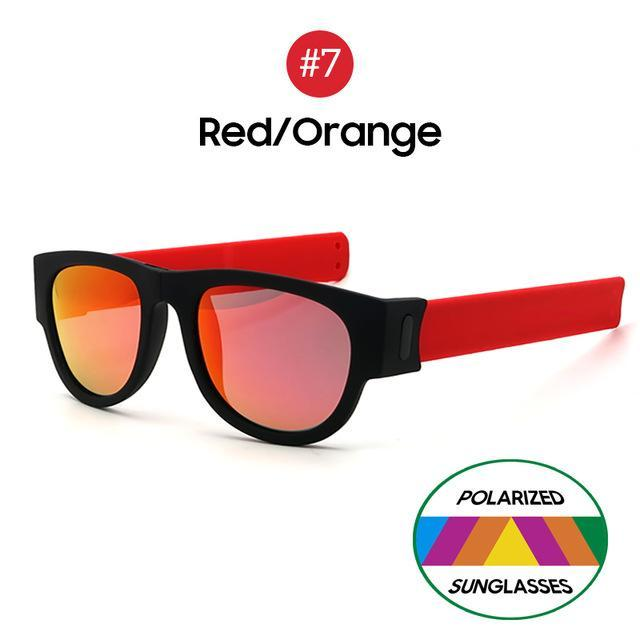 Collapsible Sunglasses - Red Orange