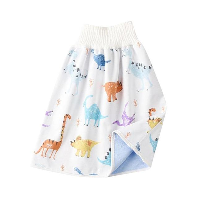 Comfy Children's Adult Waterproof Absorbent Diaper Skirt Shorts For Baby Boys Girls - Style B / L(4-8 years old)