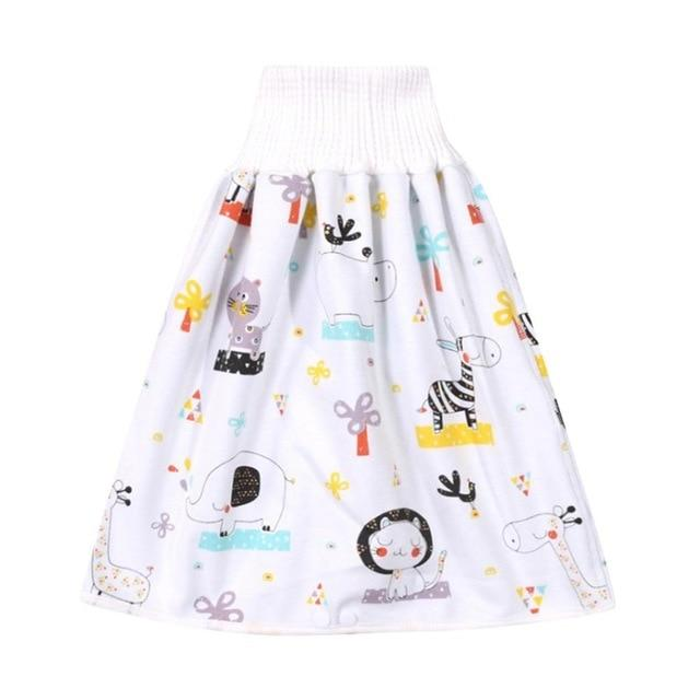 Comfy Children's Adult Waterproof Absorbent Diaper Skirt Shorts For Baby Boys Girls - Style C / L(4-8 years old)