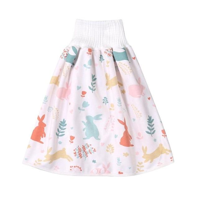 Comfy Children's Adult Waterproof Absorbent Diaper Skirt Shorts For Baby Boys Girls - Style D / L(4-8 years old)