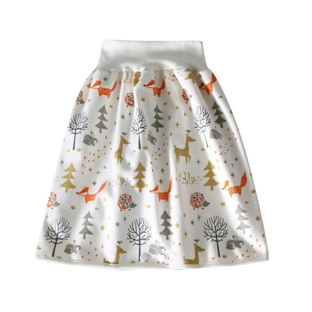 Comfy Children's Adult Waterproof Absorbent Diaper Skirt Shorts For Baby Boys Girls - Style E / L(4-8 years old)