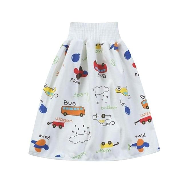 Comfy Children's Adult Waterproof Absorbent Diaper Skirt Shorts For Baby Boys Girls - Style F / L(4-8 years old)