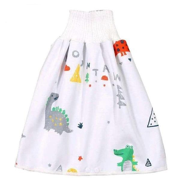 Comfy Children's Adult Waterproof Absorbent Diaper Skirt Shorts For Baby Boys Girls - Style G / L(4-8 years old)