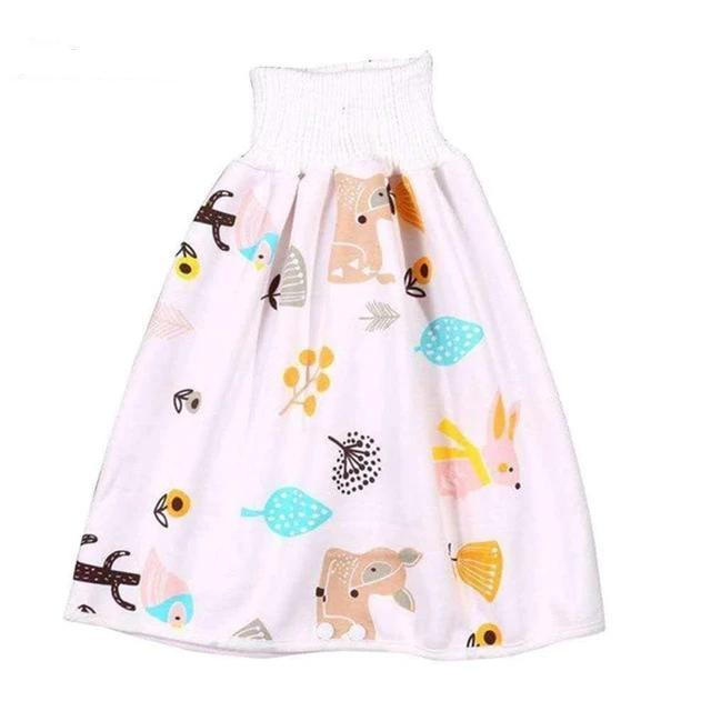 Comfy Children's Adult Waterproof Absorbent Diaper Skirt Shorts For Baby Boys Girls - Style I / L(4-8 years old)