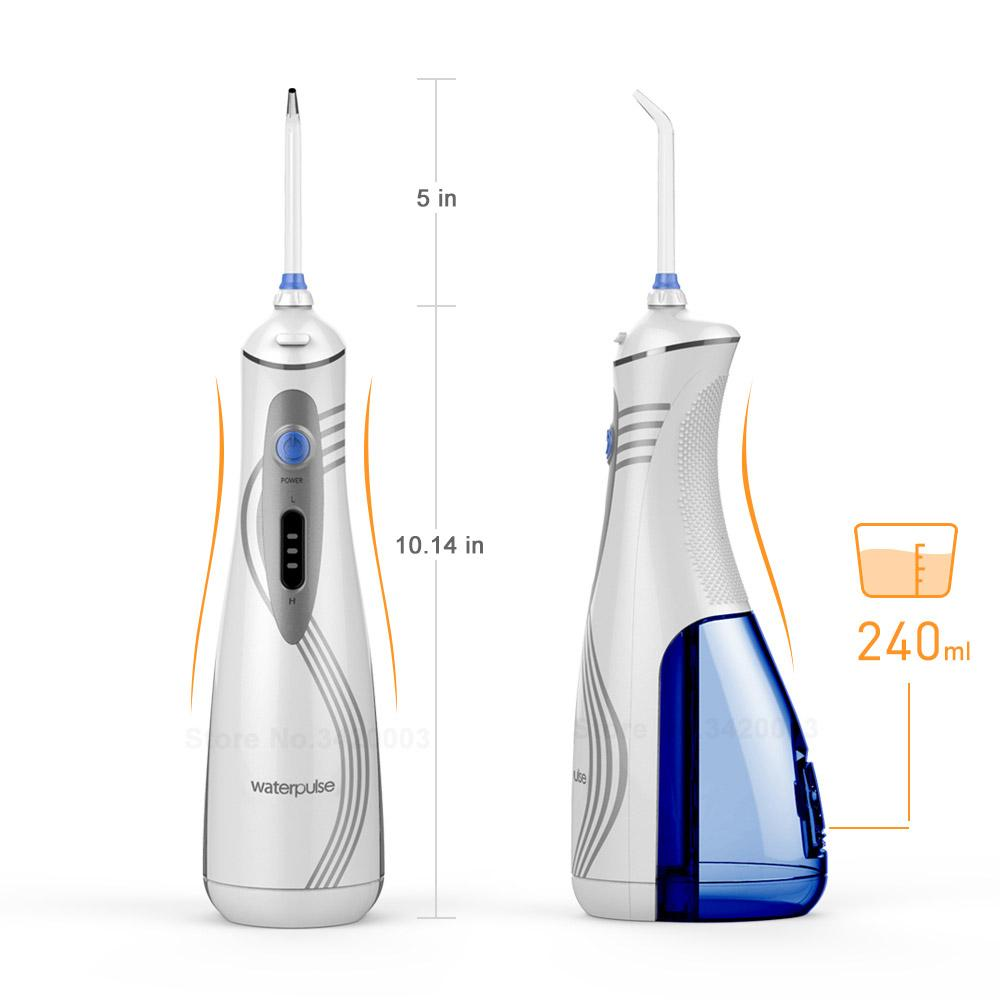 Cordless Dental Water Flosser Teeth Cleaner - Rechargeable Portable Oral Irrigator For Travel