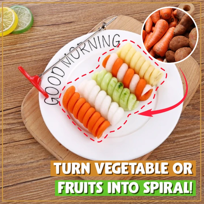 Creative Rotating Food Fruit Vegetables Magic Spiral Slicer