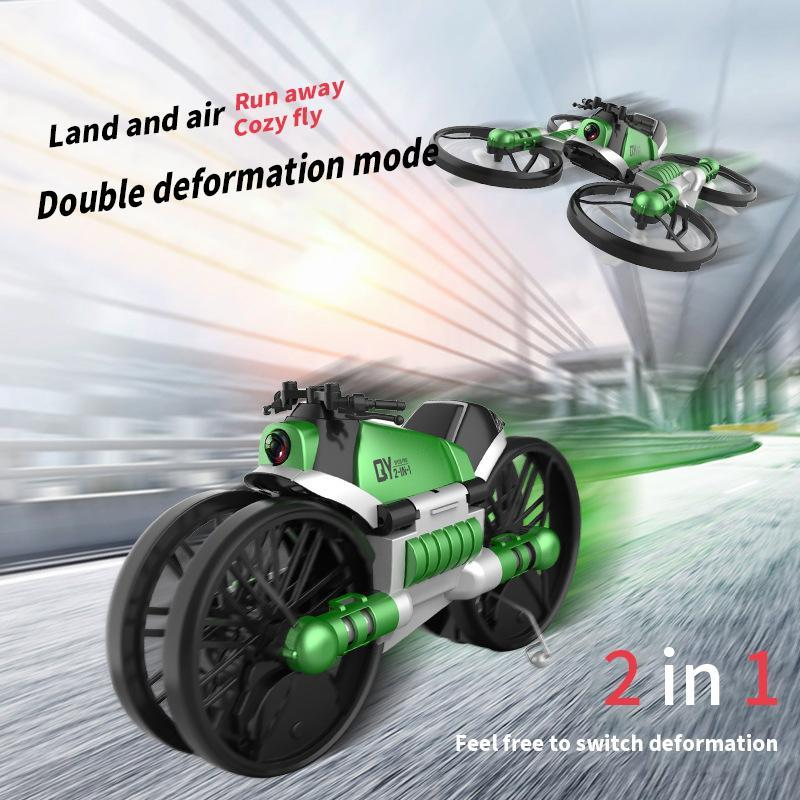 Deformation Quadcopter Motorcycle RC Drone 2.4G WiFi Camera