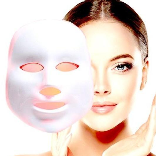 DermaRadience - LED Facial Mask Light Home Spa Therapy Beauty Treatment - Face Skin Care Machine