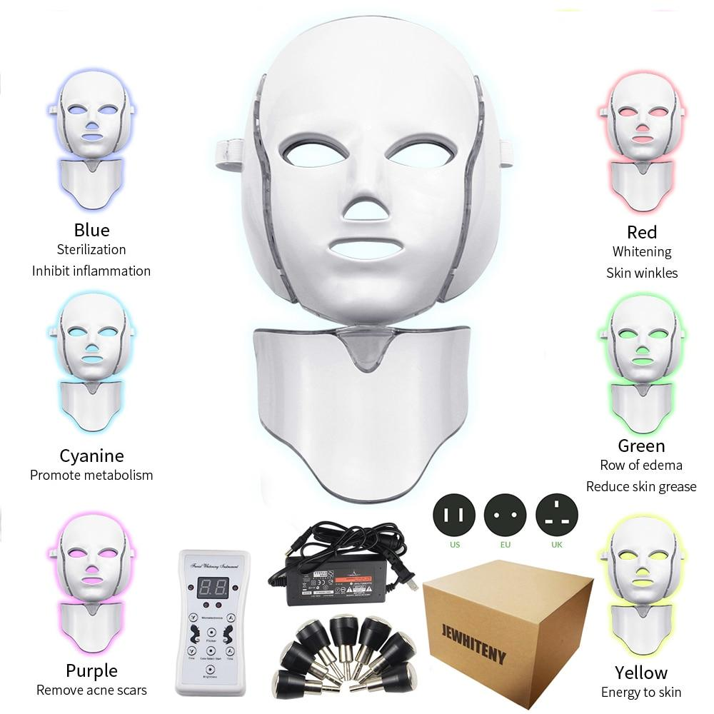 DermaRadience - LED Facial Mask Light Home Spa Therapy Beauty Treatment - Pro Version - Face Skin Care Machine
