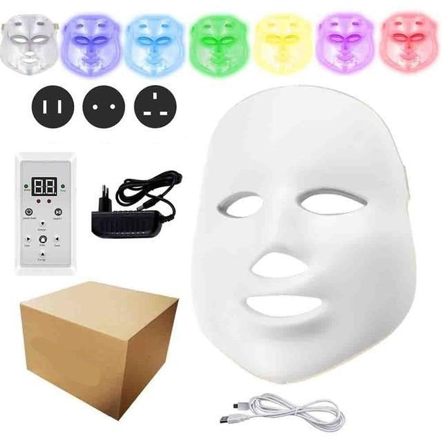 DermaRadience - LED Facial Mask Light Home Spa Therapy Beauty Treatment - Standard Version - Face Skin Care Machine