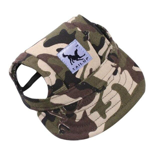 Dog Hat With Ear Holes - Puppy Baseball Cap - Camouflage / S - Dog Caps