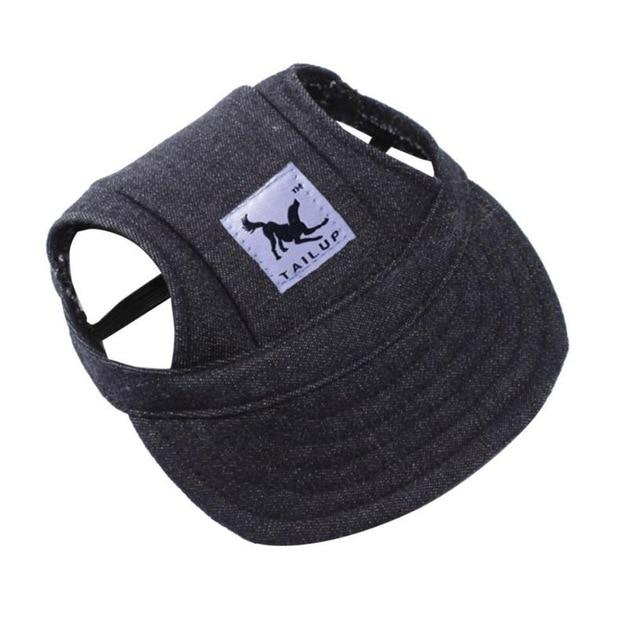 Dog Hat With Ear Holes - Puppy Baseball Cap - Denim Black / S - Dog Caps