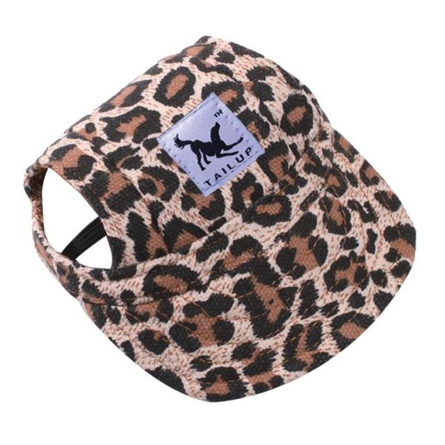 Dog Hat With Ear Holes - Puppy Baseball Cap - Leopard / S - Dog Caps