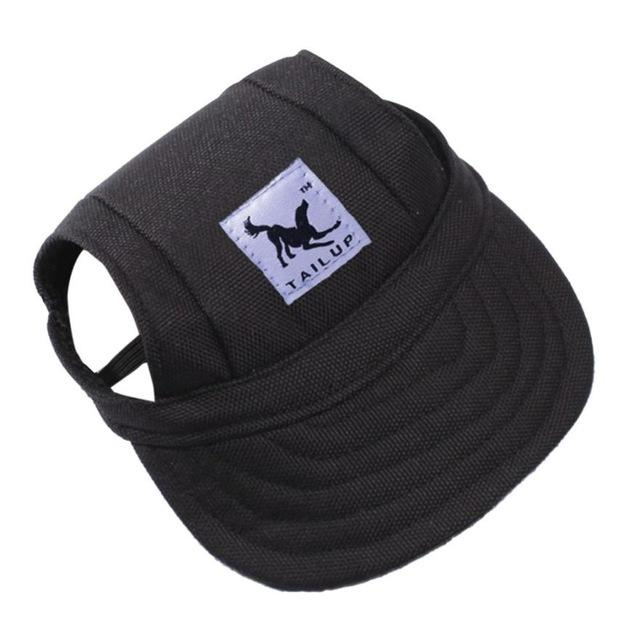 Dog Hat With Ear Holes - Puppy Baseball Cap - Oxford Black / S - Dog Caps