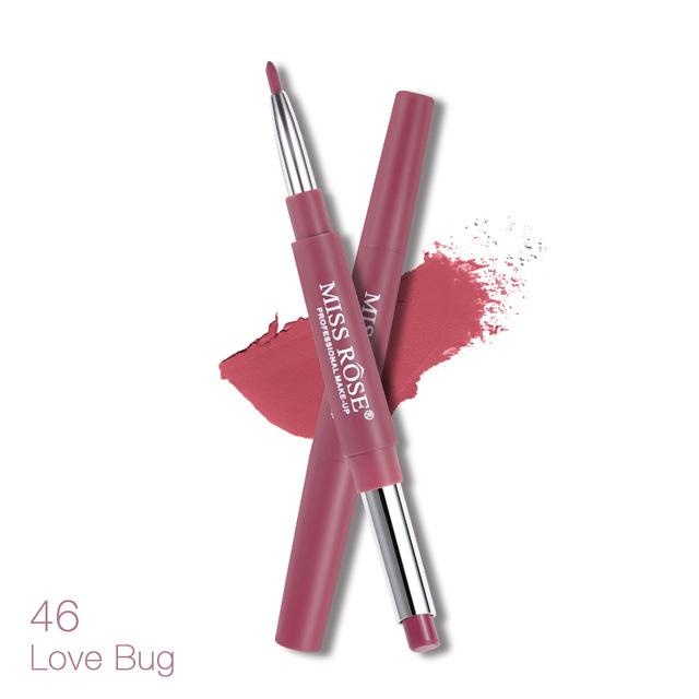 Double Ended Lipstick - Miss Rose 2 in 1 Lipstick & Lipliner - Lipstick