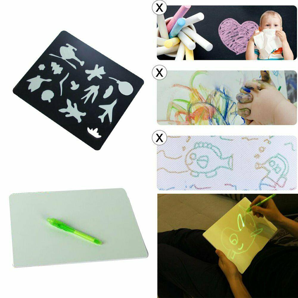 Draw With Light Magic Luminous Drawing Board Fun Educational Developing Toy - Drawing Toys