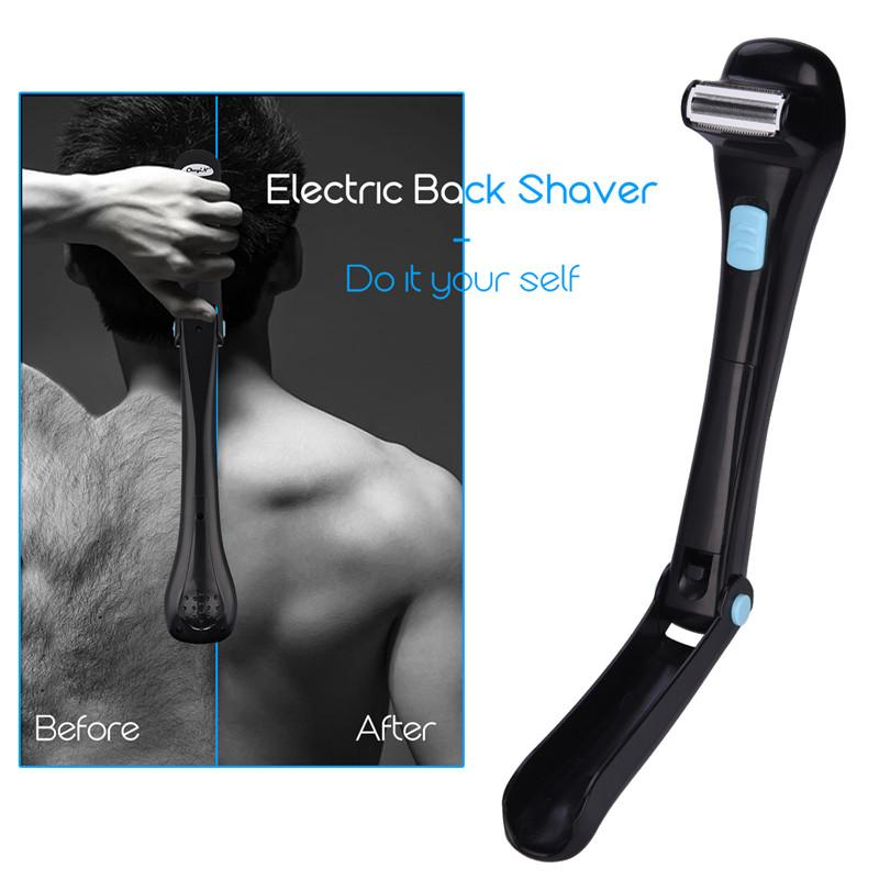 Electric Back Hair Shaver - Foldable Back Hair Trimmer Epilator
