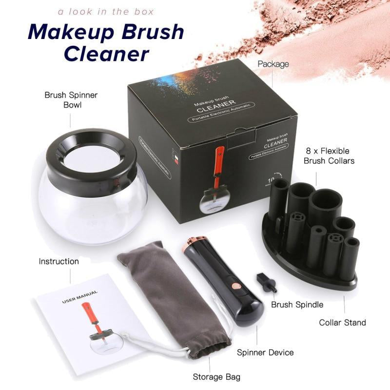 Electric Makeup Brush Cleaner - Silicone Cosmetic Brush Cleaning Tool
