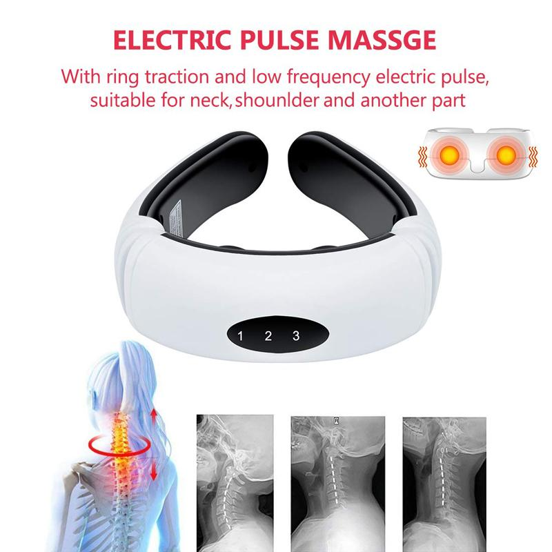 Electric Pulse Back and Neck Massager - Pain Relief Cervical Massager - Massage & Relaxation