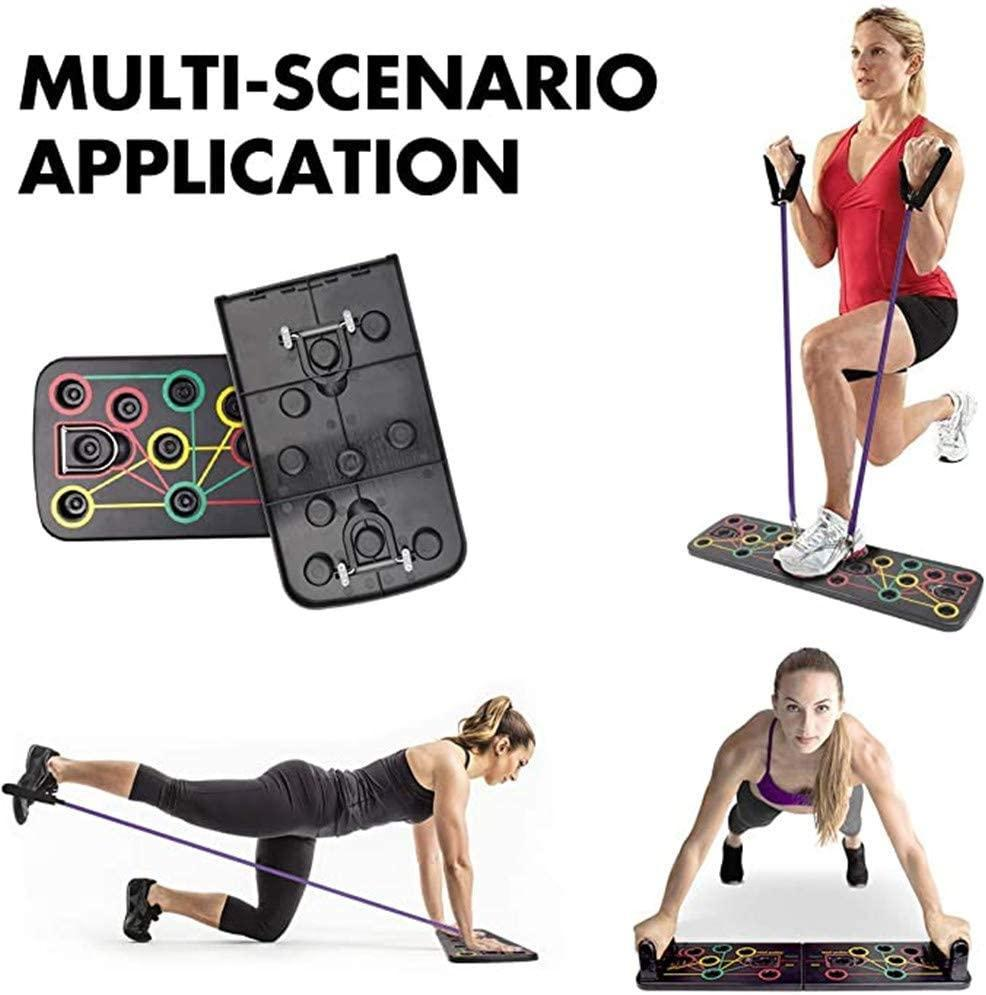 FitBoard - Push Up Training Board With Resistance Bands - Fitness Exercise Tool