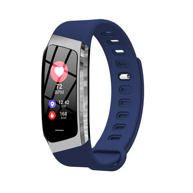 Fitness Smart Watch Waterproof Blood Pressure Heart Rate Monitor Sport Bracelet Tracker - Blue Silver - Smart Wristbands