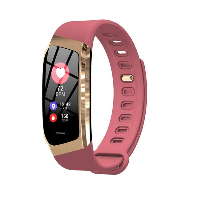 Fitness Smart Watch Waterproof Blood Pressure Heart Rate Monitor Sport Bracelet Tracker - Rose Gold - Smart Wristbands