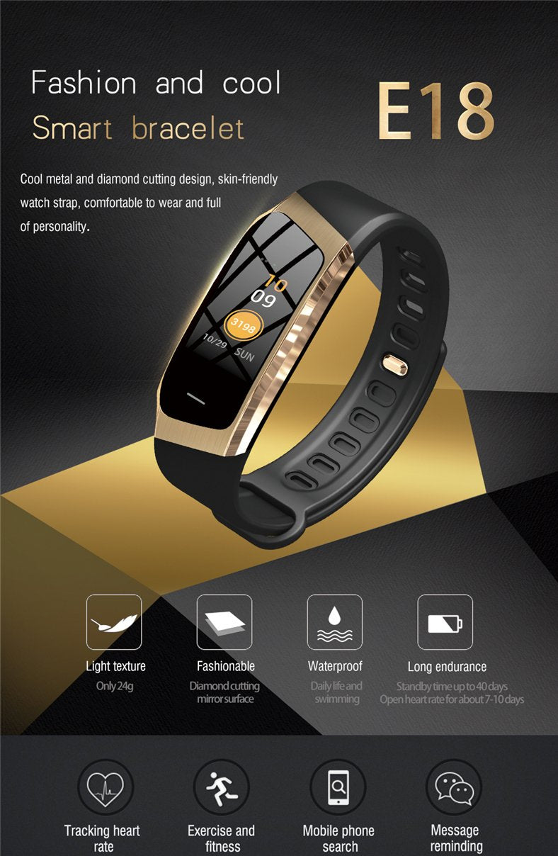 Fitness Smart Watch Waterproof Blood Pressure Heart Rate Monitor Sport Bracelet Tracker - Smart Wristbands