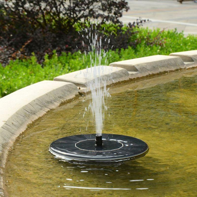 Floating Solar Powered Fountain Pump For Bird Bath Outdoor Garden Decoration