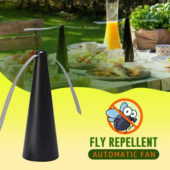 FlyAway - Soft Blade Automatic Fly Bug Repelling Fan - Repellents