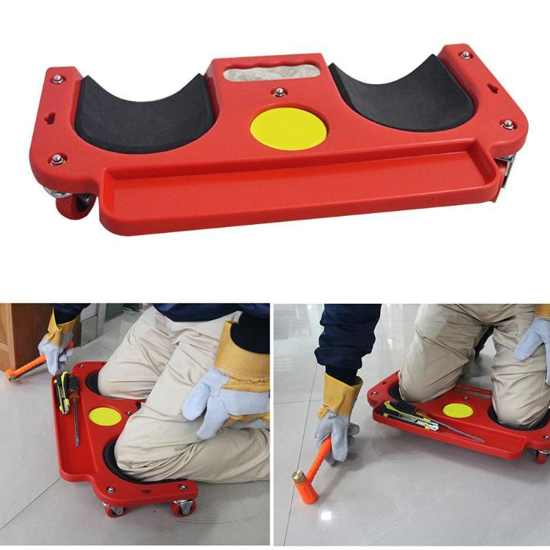 Foam Padded Safety Rolling Knee Protection Pad - Multifunctional Wheel Kneeling Pad - Tool Parts
