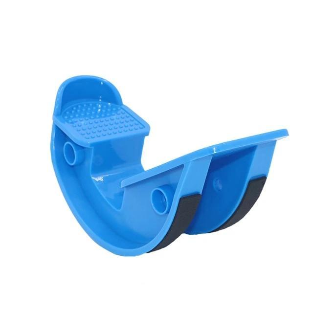 FootRock - Calf Ankle & Plantar Muscle Stretch Board Foot Pedal Stretcher - Blue - Integrated Fitness Equipments