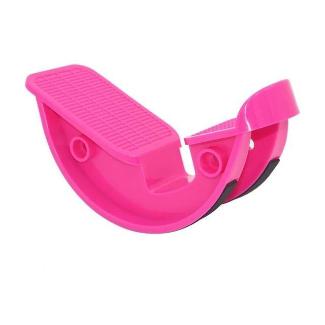 FootRock - Calf Ankle & Plantar Muscle Stretch Board Foot Pedal Stretcher - Pink - Integrated Fitness Equipments