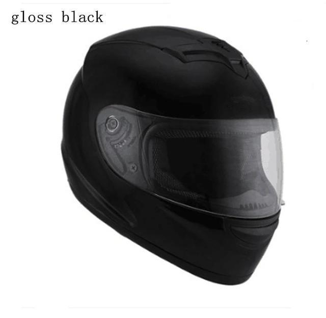 Full Face Motorcycle Helmet with Bluetooth - gloss black helmet 2 / S