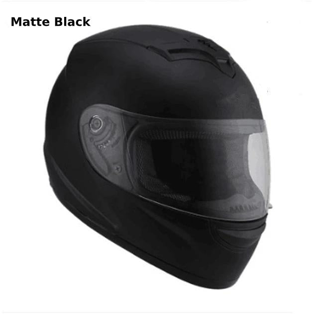 Full Face Motorcycle Helmet with Bluetooth - matte black helmet 2 / S